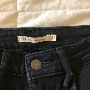 Levi's high rise skinnies